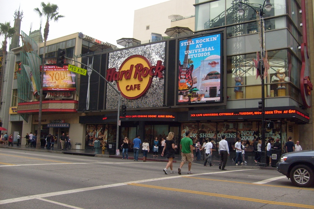 Hard Rock Cafe Los Angeles Sign