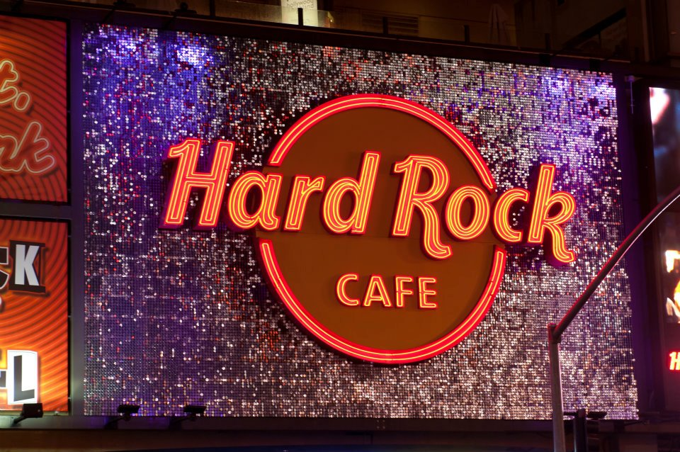 Hard Rock Cafe Los Angeles SolaRay Sign 3