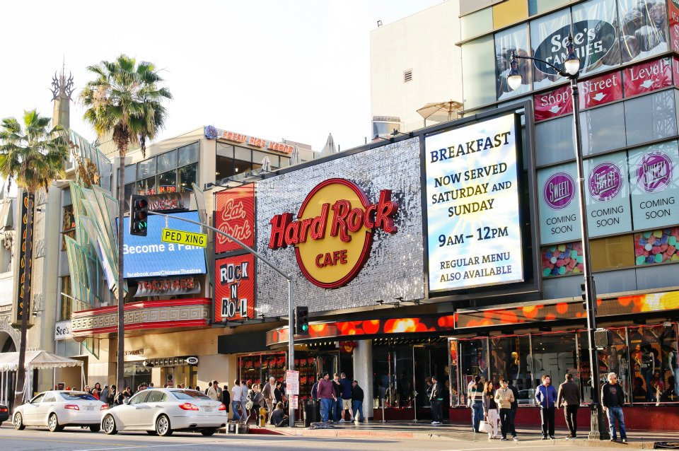 Hard Rock Cafe Los Angeles SolaRay Sign 6