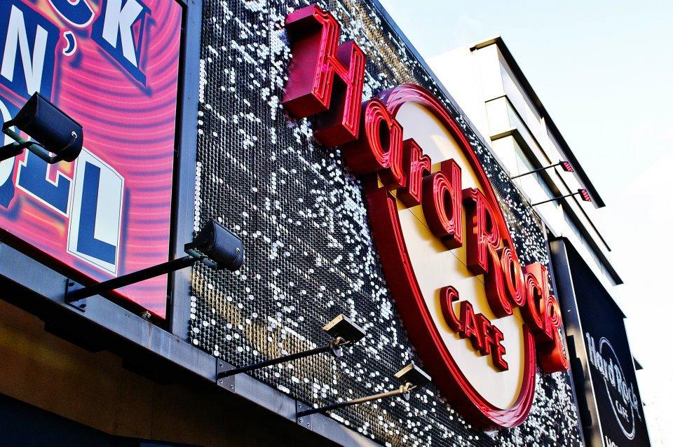 Hard Rock Cafe Los Angeles SolaRay Sign 1