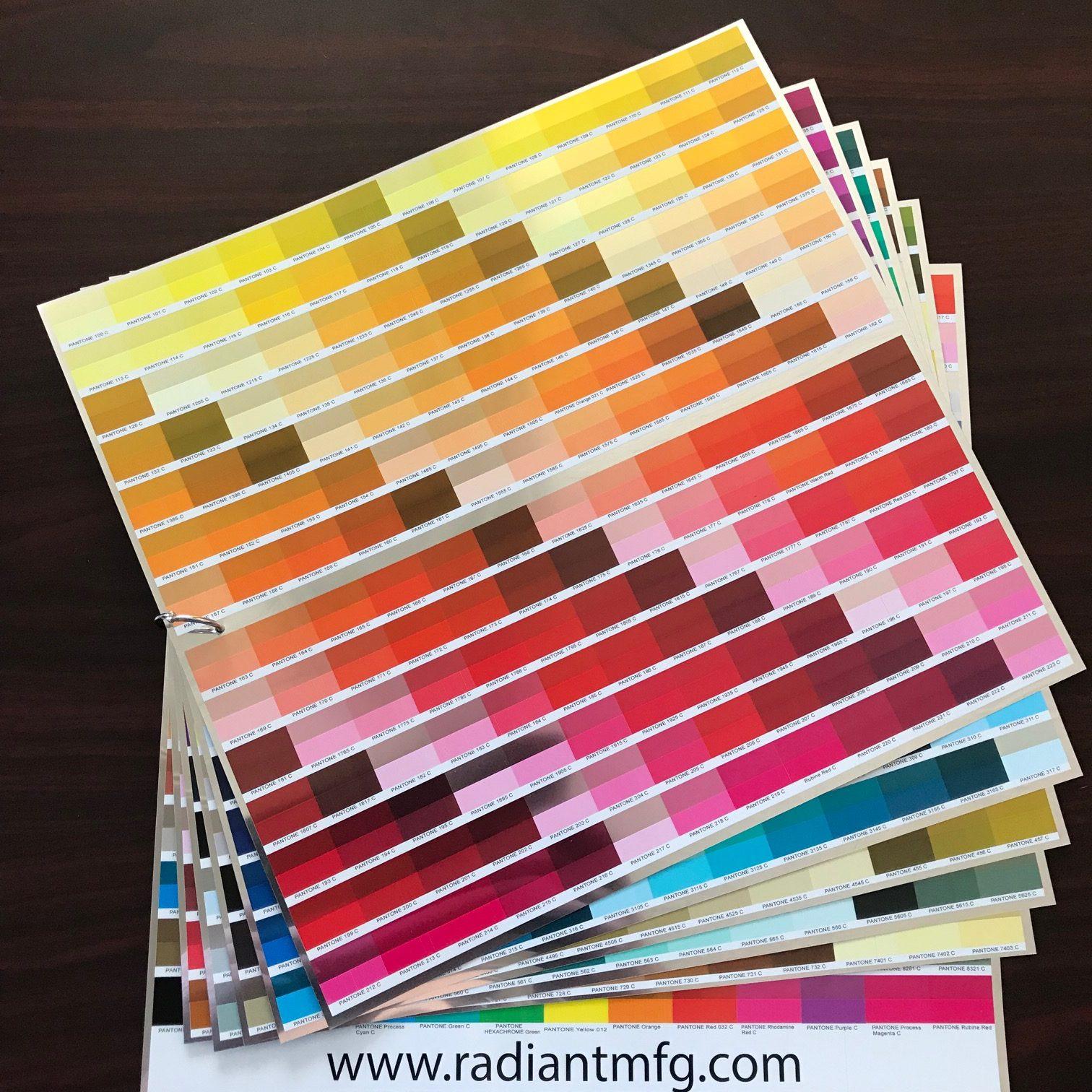 Printed Pantone Color Book   Sequin Signs and Displays